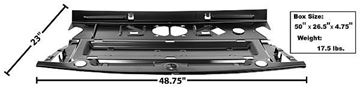 Picture of REAR SEAT DIVIDER/PACKAGE TRAY 66/7 66-67 : 1462ZE CHEVELLE 66-67