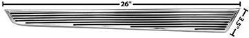 Picture of ROCKER MOLDING EXTENTION RH 1966 66-66 : M1433C CHEVELLE 66-66
