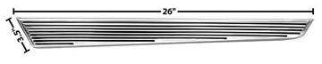 Picture of ROCKER MOLDING EXTENTION LH 1966 66-66 : M1433D CHEVELLE 66-66