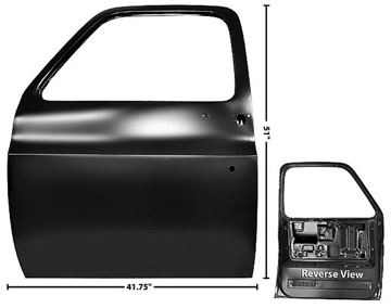 Picture of DOOR SHELL LH 77-87 PICKUP 77-91 : 1103KJ CHEVY PICKUP 77-91