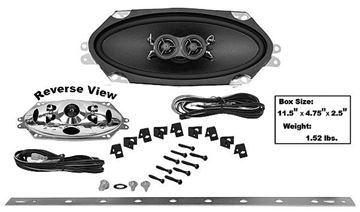 Picture of DASH SPEAKER 4X10 DUAL VOICE COIL 67-72 : AMR-410UK CHEVY PICKUP 67-72