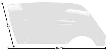 Picture of DOOR GLASS RH 71-81 CLEAR 71-81 : 1076EZ CAMARO 71-81