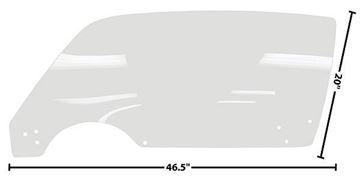 Picture of DOOR GLASS LH 71-81 CLEAR 71-81 : 1076FZ CAMARO 71-81