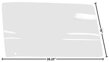 Picture of DOOR GLASS RH 67 CP/CONVT CLEAR 67-67 : 1076ET CAMARO 67-67
