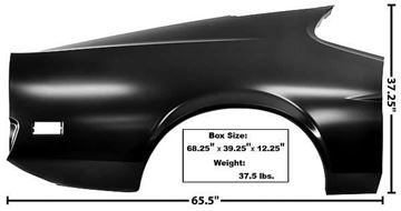 Picture of QUARTER PANEL FULL RH 71-72 FB 71-72 : 3641KC MUSTANG 71-72