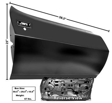 Picture of DOOR SHELL 75-81 : 1076ZA FIREBIRD 75-81