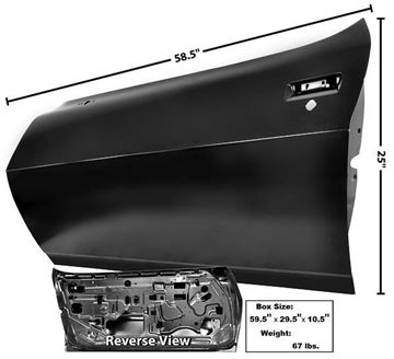 Picture of DOOR SHELL LH 75-81 : 1076ZB FIREBIRD 75-81