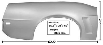 Picture of QUARTER PANEL COMPLETE RH 69 CONVT. 69-69 : 3644LWT MUSTANG 69-69