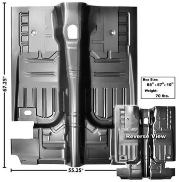 Picture of FLOOR PAN COMPLETE 71-73 FB/CP : 3648NC MUSTANG 71-73
