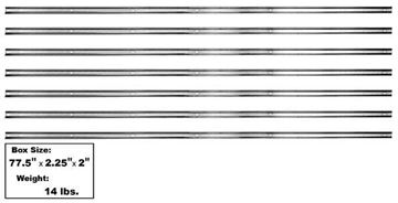 Picture of BED STRIP KIT 51-53 SHORT BED 7 PCS *STAINLESS* : 1107SA CHEVY PICKUP 51-53