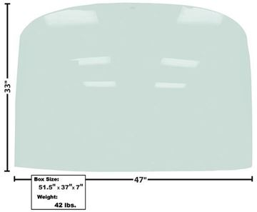 Picture of WINDOW/REAR GLASS TINTED 1965-66 FASTBACK : X3674 MUSTANG 65-66