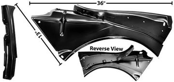 Picture of QUARTER PANEL INNER BRACKET RH CONVERTBL : 1000J CAMARO 67-68