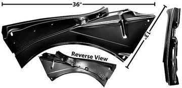 Picture of QUARTER PANEL INNER BRACKET LH CONVERTBL : 1000K CAMARO 67-68
