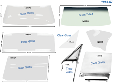 Picture for category Glass, Weatherstrip & Seals : Chevelle