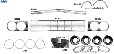 Picture for category Grilles : Chevelle