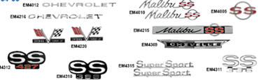 Picture for category Emblems Dash: Chevelle