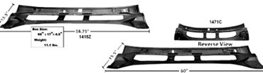 Picture for category Windshield & Cowl Panels : Chevelle