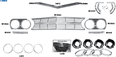 Picture for category Headlamp Buckets & Brackets : El Camino