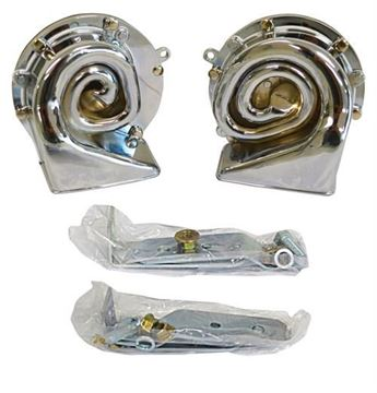 Picture of HORN HIGH/LOW NOTE CHROME PLATED : 1010HC CHEVELLE 64-72