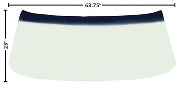Picture of WINDSHIELD 68-72 GREEN TINT SHADE : 1400PC CHEVELLE 68-72