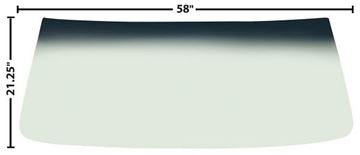 Picture of WINDSHIELD GREEN TINT SHADE 66-67 : 1400PD CHEVELLE 66-67