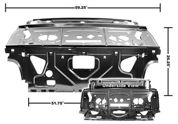 Picture of SEAT/REAR DIVIDER/PACKAGE SHELF EDP : 1462ZA CHEVELLE 68-70