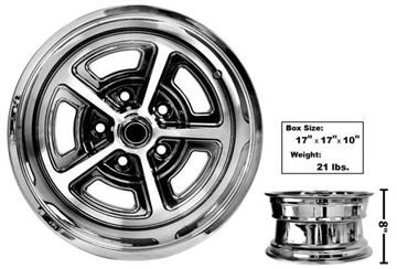 Picture of MAGNUM ALLOY WHEEL 15X8 COATED : GW158C CHEVELLE 64-72