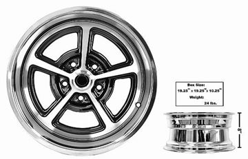 Picture of MAGNUM ALLOY WHEEL 17x8  COATED : GW178C CHEVELLE 64-72