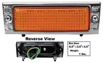 Picture of PARK LAMP LED 47-53 AMBER STAINLESS : CPL4753A-AS CHEVY PICKUP 47-53
