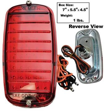 Picture of TAIL LAMP ASSY LED 60-66 FLEETSIDE : CTL6066FSR CHEVY PICKUP 60-66