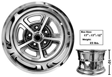 Picture of MAGNUM ALLOY WHEEL 15X10 COATED : GW150C CHEVY PICKUP 60-72