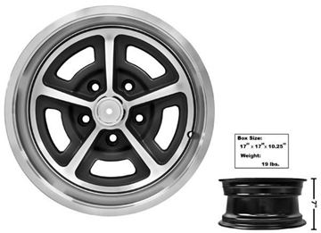 Picture of MAGNUM ALLOY WHEEL 15x7  W/CAP : GW157 CHEVY PICKUP 64-72