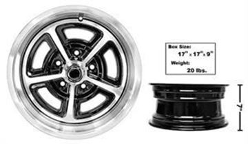 Picture of MAGNUM ALLOY WHEEL 15X7 NEW DESIGN : GW157P CHEVY PICKUP 64-72