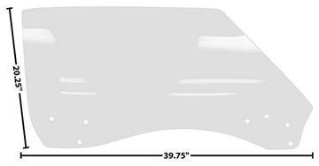 Picture of DOOR GLASS RH 68-69 CP/CV CLEAR : 1076EW FIREBIRD 68-69