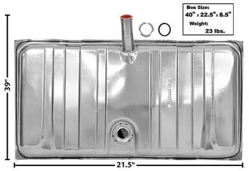 Picture of GAS TANK 69 STAINLESS : T11A FIREBIRD 69-69