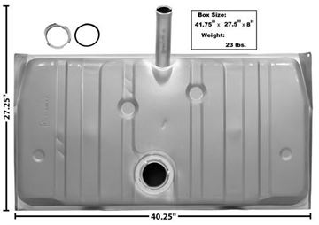 Picture of GAS TANK 70 W/O VENT PIPE & : T12 FIREBIRD 70-70
