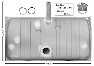 Picture of GAS TANK 71/3 W/VENT PIPE 18 GAL. : T13 FIREBIRD 71-73
