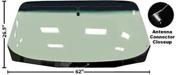 Picture of WINDSHIELD 70-81 SHADED W/ANTENNA : 1004DB FIREBIRD 70-81