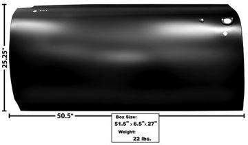 Picture of DOOR SKIN LH 66-67 : 1554LS GTO 66-67