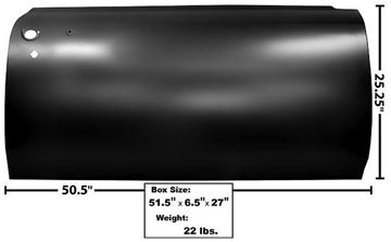 Picture of DOOR SKIN RH 66-67 : 1554RS GTO 66-67