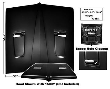 Picture of HOOD 1964 SCOOP STYLE : 1509X GTO 64-64