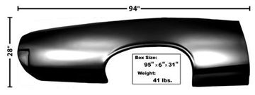 Picture of QUARTER PANEL SKIN RH 66-67 : 1590A GTO 66-67