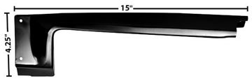 Picture of TAIL LAMP SURROUND RH 1966 : 1715C IMPALA 66-66