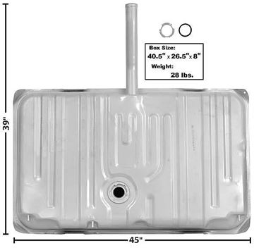 Picture of GAS TANK 71-72 20 GAL. W/NECK, : T30A MONTECARLO 71-72