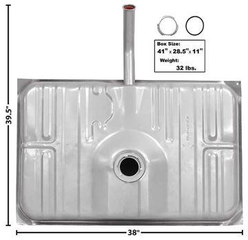 Picture of GAS TANK 73-77 19 GAL : T30B MONTECARLO 73-77