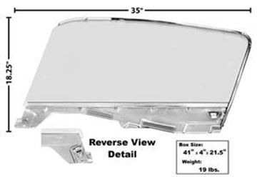 Picture of DOOR GLASS KIT RH 65-66 FB : 3614L MUSTANG 65-66