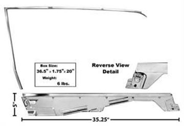 Picture of DOOR WINDOW FRAME KIT LH 65/6 COUPE : 3614RA MUSTANG 65-66