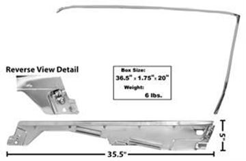 Picture of DOOR WINDOW FRAME KIT RH 65/6 CONVT : 3614SA MUSTANG 65-66