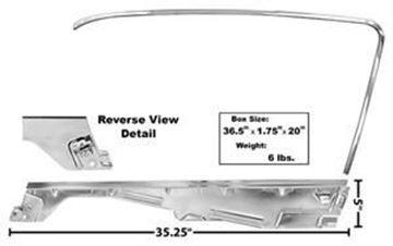 Picture of DOOR WINDOW FRAME KIT RH 65-66 F/B : 3614LA MUSTANG 65-66