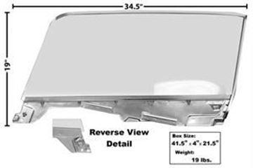 Picture of DOOR WINDOW GLASS ASSY RH 65/6 CONV : 3614S MUSTANG 65-66